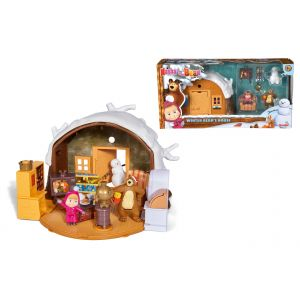 simba masha and the bear masha play set winter bear 39 s. Black Bedroom Furniture Sets. Home Design Ideas