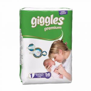 Giggles Baby Diaper Size 1 (2-5Kg) - 56Pcs