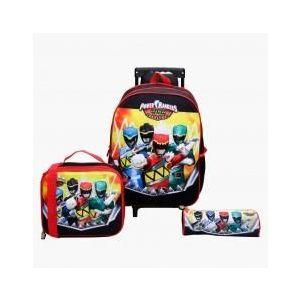 Disney Power Rangers Printed 3-Piece Trolley Backpack Set