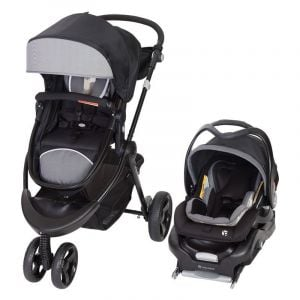 Baby Trend Black/Grey 1st Debut 3 Wheel Stroller/Carseat Travel System Metric