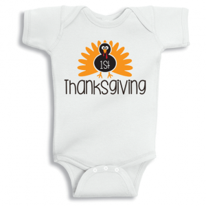 Twinkle Hands 1st thanksgiving Baby Onesie, Bodysuit, Romper