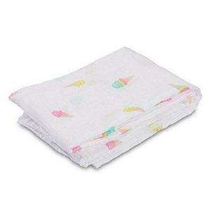 Lulujo Muslin Swaddle - Ice cream social
