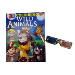 Sawan 3D Colouring Wild Animals - Children's Book