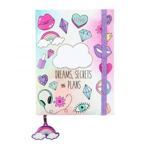 3C4G Dreams/Secrets/Plans Elastic Glitter Journal