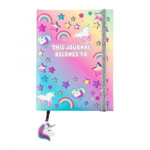 3C4G Unicorn Elastic Glitter Journal
