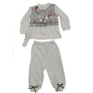 3pcs Girls Pajama Set White