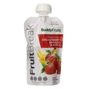 Buddy Fruits Blended Strawberry, Banana & Apple - 90g