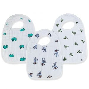 Aden+Anais Jungle Jam Classic Snap Bibs - 3pcs