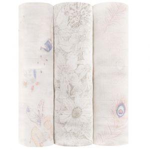 Aden+Anais Featherlight Silky Soft Swaddles - 3pcs