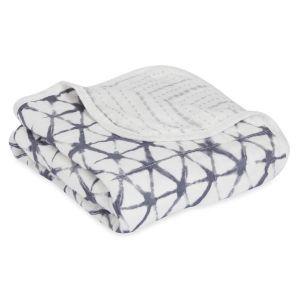 Aden+Anais Pebble Shibori Silky Soft Stroller Blanket
