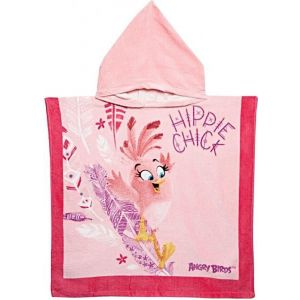 Angry Birds Hooded Towel-Pink