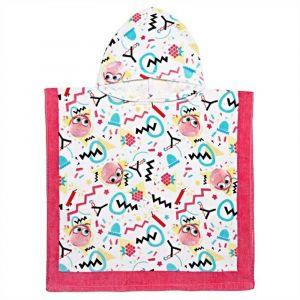 Angry Birds Pink Printed Hooded Towel