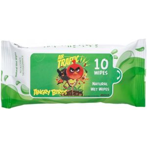 Angry Birds Green Natural Wet Wipes 10pcs