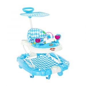 Baby Plus Baby Walker Cum Rocker - Blue