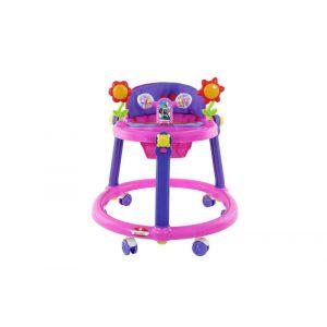 Baby Plus Baby Walker - Purple & Pink