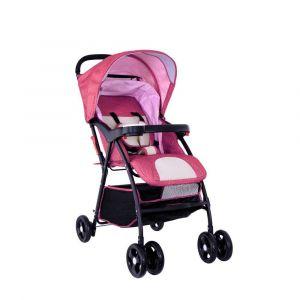 Baby Plus Stroller Cum Pram - Red & White