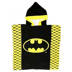 Batman Hooded Poncho - Black & Yellow
