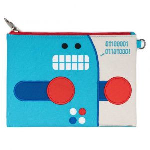 BeatrixNY Pixel The Robot Pencil Case
