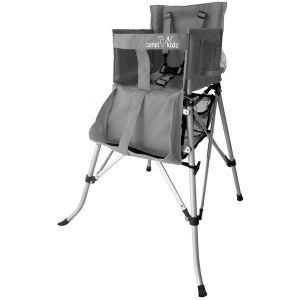 Camel Kidz Travel High Chair - Silver Metallic Gray
