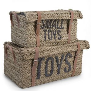Childhome Rattan Basket & Belt Toys & Small Toys Set of 2