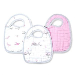 Aden + Anais Classic 3-Pack Snap Bibs For the Birds