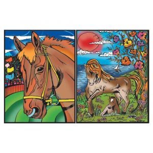 Colorvelvet Ring Binder Horses Colouring Kit