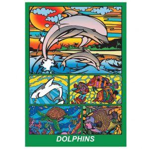 Colorvelvet Soft Box Dolphins Colouring Kit