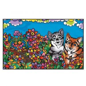 Colorvelvet Folder Dog Colouring Kit
