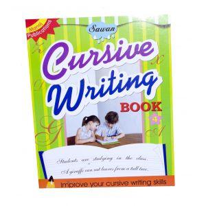 Sawan Cursive Writing Book 4 - Children's Book