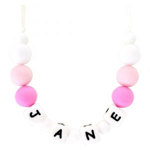 Desert Chomps Personalized Little Missy Necklace Pink