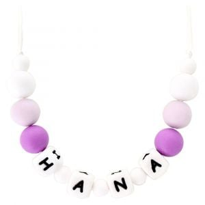 Desert Chomps Personalized Little Missy Necklace Purple