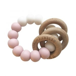 Desert Chomps Pink Trio Rattle Teether