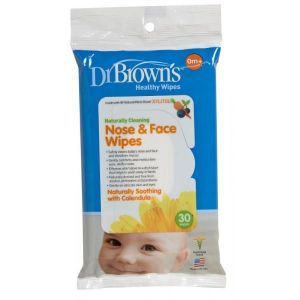 Dr Browns Nose & Face Wipes - 30pcs