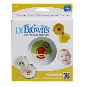 Dr Browns Feeding Bowls - 2pcs
