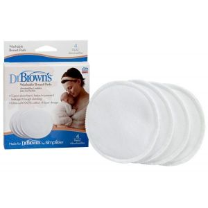 Dr Browns Washable Breast Pad - 4pcs