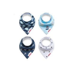 Eazy Kids Anchors & Ships Bandana Bibs Set of 4