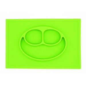 Eazy Kids Green Square Plate