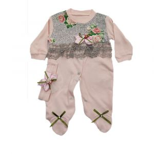 Fancy 2pc Girls Overall Pink