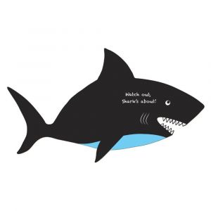 Fiesta Crafts Shark Wall Hanging Chalkboard