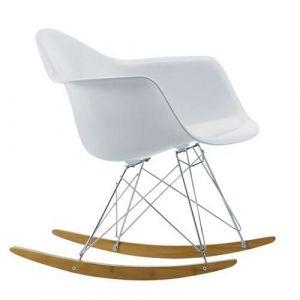 Caramel and Sun White Kids Rocking Chair