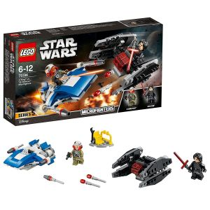 Lego A-Wing Vs. Tie Silencer Microfighters Block Toys