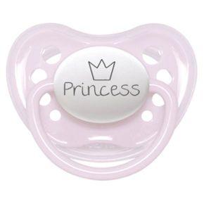 Littlemico Pink Princess W-Crown Pacifier 0-6M