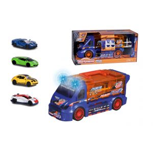 Majorette - Die Cast Playset Race 'N Carry Van + 4 Cars