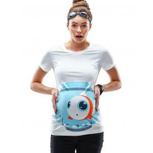 Mamagama Fish Bowl Maternity T shirt