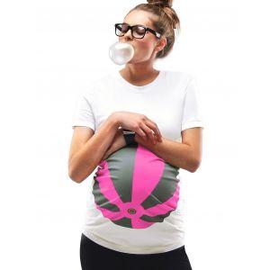 Mamagama Beachball Maternity T shirt Neon Pink