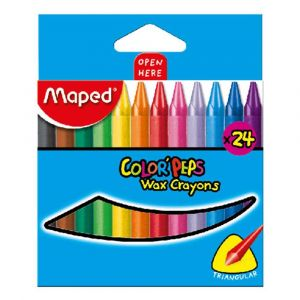 Maped Color Peps Wax Crayons - Set of 24 Color