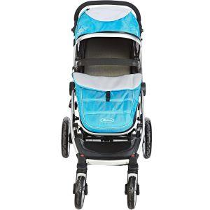 My Baby Blue & Black Stroller