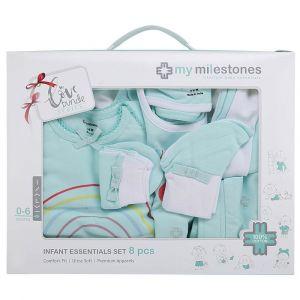My Milestones Aqua Full Sleeves Infant Clothing Gift Set -  8pc