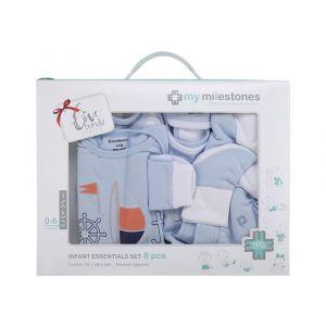 My Milestones Blue Infant Clothing Gift Set -  8pc