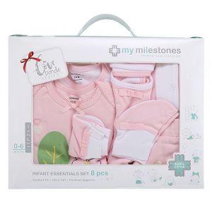 My Milestones Pink Infant Clothing Gift Set -  8pc